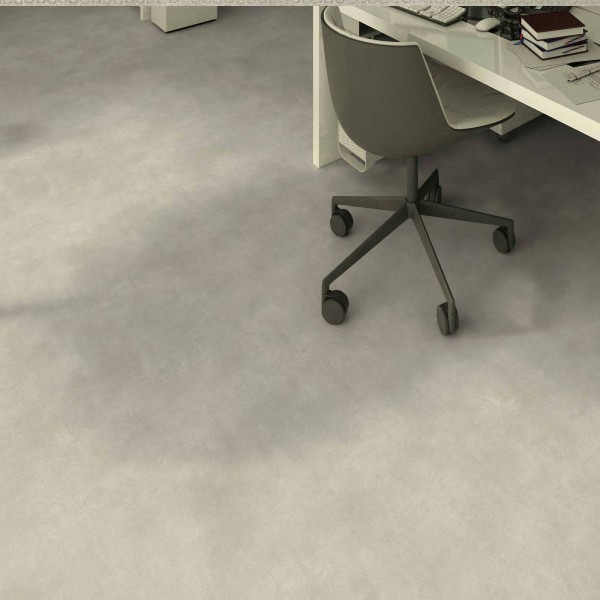 Tarkett Excellence Topaz 70 Stencil Concrete Light Grey PVC Bodenbelag - M U S T E R