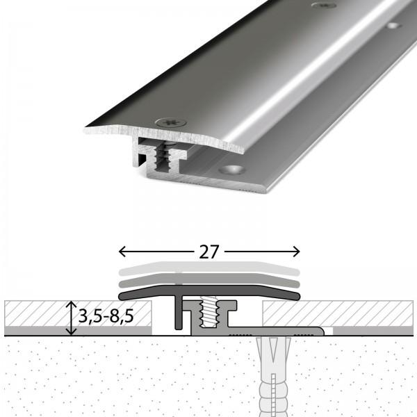 Übergangsprofil 3,5-8,5 mm LPS Design Edelstahl Poliert 100 cm - 3261309100