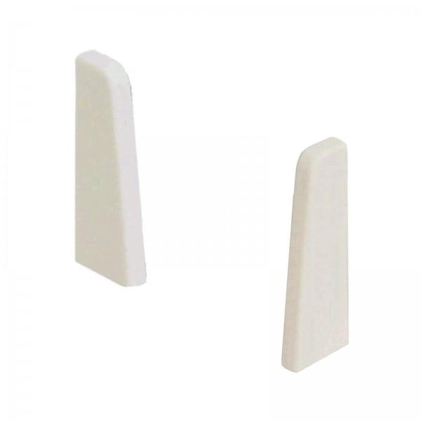 Kronotex Endkappen Paar Weiß Uni für Ktex1 (58 mm) Randleiste