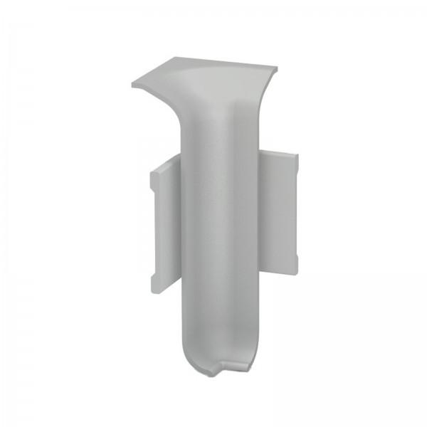 Aluminium Clip Sockelleiste Innenecke Silber Prinz