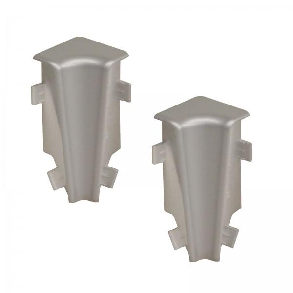 Kronotex Innenecken 2 x Silber Uni für Ktex1 (58 mm) Randleiste