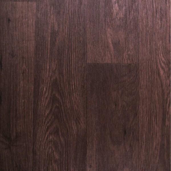 PVC Bodenbelag Holz Eiche Dunkel Braun - Rolle