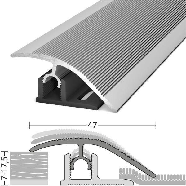 Anpassungsprofil 7-17,5 mm Profi-Tec Master Silber 100 cm - 3041011100