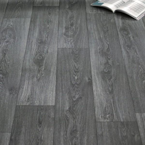 PVC Bodenbelag Holz Maxiplanken Schwarz Grau