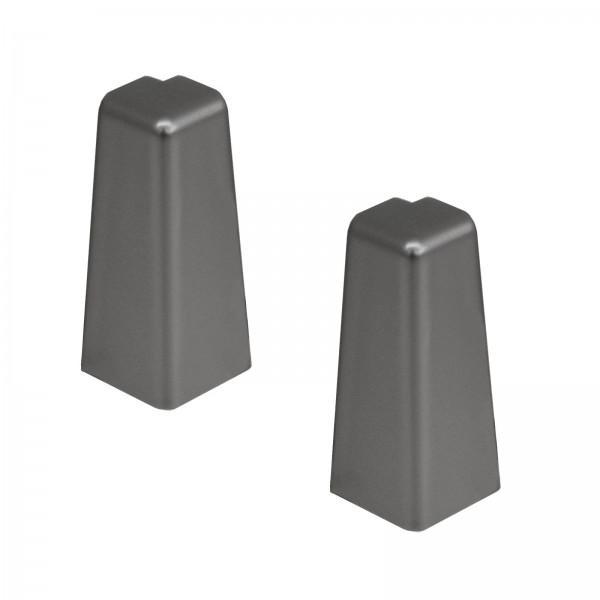 Kronotex Außenecken 2 x Edelstahl Uni für Ktex1 (58 mm) Randleiste