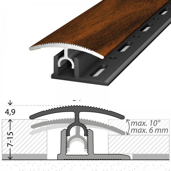 Übergangsprofil 7-15 mm Profi-Tec Master Nussbaum 100 cm - 3011024100