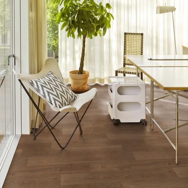 Tarkett Topaz 70 Warm Oak Strong Brown PVC Bodenbelag - Rolle