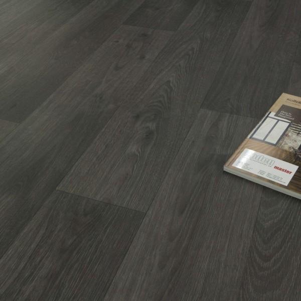 PVC Bodenbelag Tarkett 280T Swan Dark Grey Eiche Elegant Schwarz Grau mit Textilrücken