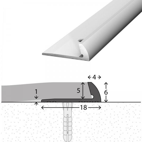 Abschlussprofil 5 mm Silber 250 cm - 1581311250