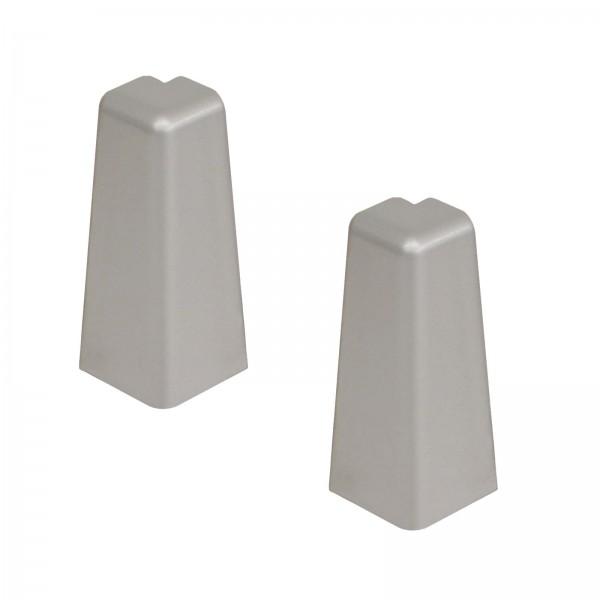 Kronotex Außenecken 2 x Silber Uni für Ktex1 (58 mm) Randleiste