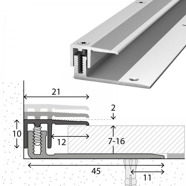 Abschlussprofil 7-16 mm LPS 220 Silber 100 cm - 2321311100