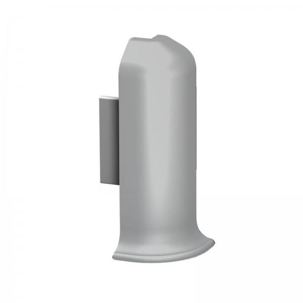 Aluminium Clip Sockelleiste Außenecke Silber Prinz
