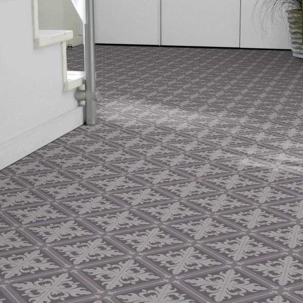PVC Bodenbelag Tarkett 280T Fliese Istanbul Tile Cold Grey mit Textilrücken