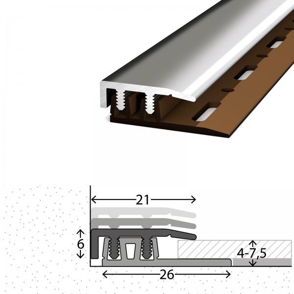 Abschlussprofil 4-7,5 mm Profi Design Edelstahl Poliert 270 cm