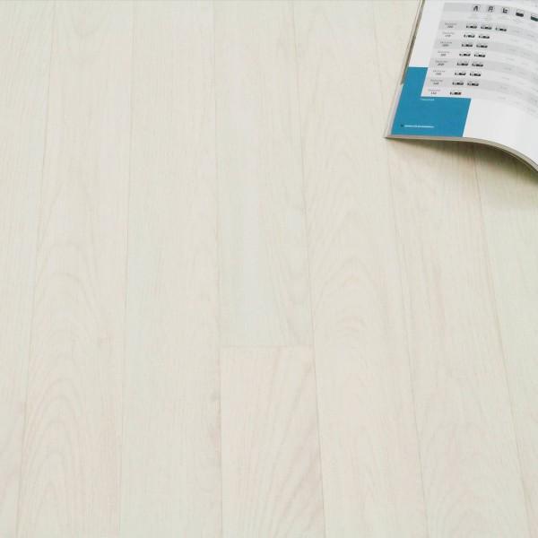 PVC Bodenbelag Holz Planken Weiss Gekalkt - Rolle