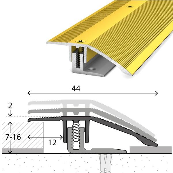 Anpassungsprofil 7-16 mm LPS 220 Gold 100 cm - 2211310100