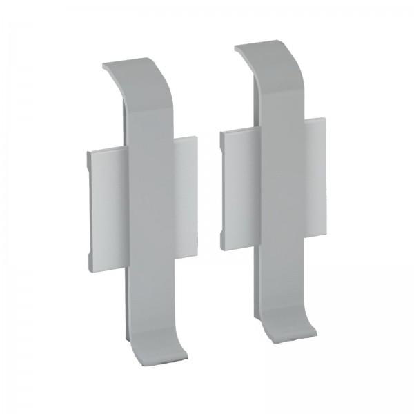 Aluminium Clip Sockelleiste 1 Paar Verbinder Silber Prinz