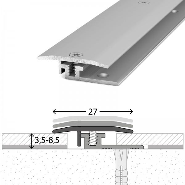 Übergangsprofil 3,5-8,5 mm LPS Design Silber 100 cm - 3261311100