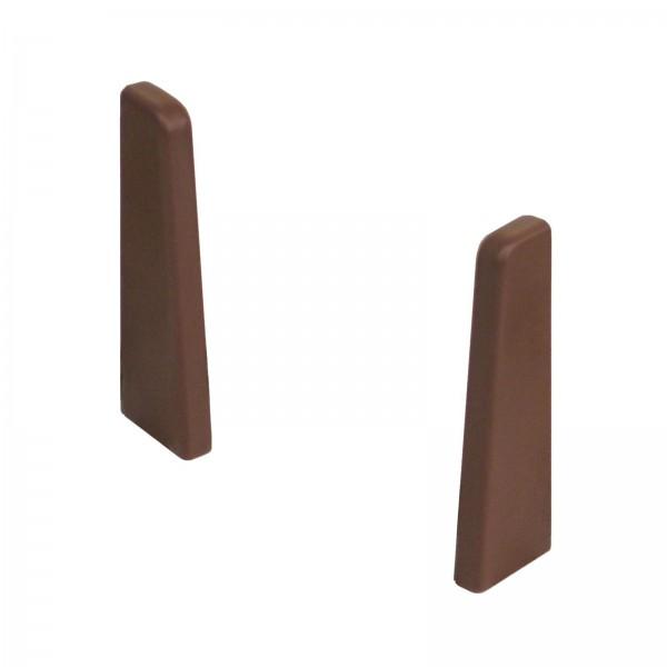 Kronotex Endkappen Paar Dunkelbraun Uni für Ktex1 (58 mm) Randleiste