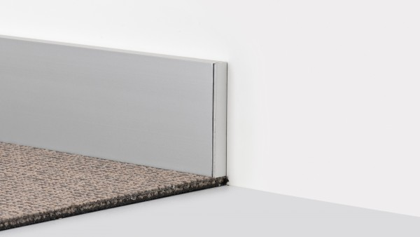 Aluminium Prinz Fußleiste 359 Endstück Silber