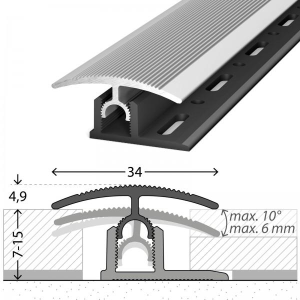 Anpassungsprofil mit Basisprofil 100cm Silber