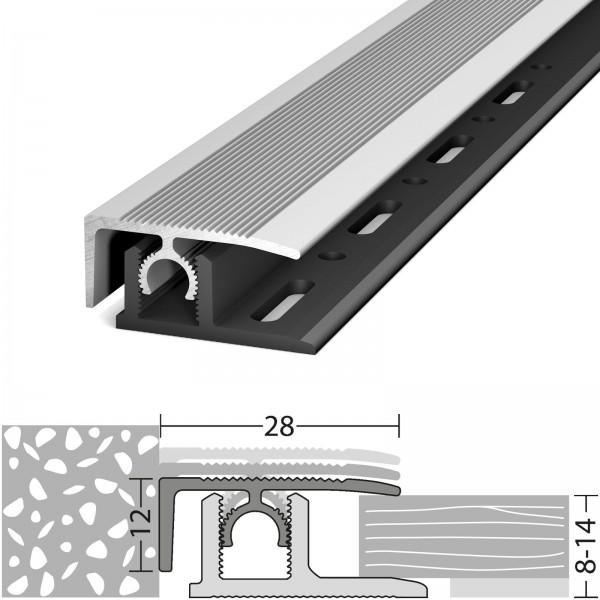 Abschlussprofil 8-14 mm Profi-Tec Master Silber 270 cm - 3082011270