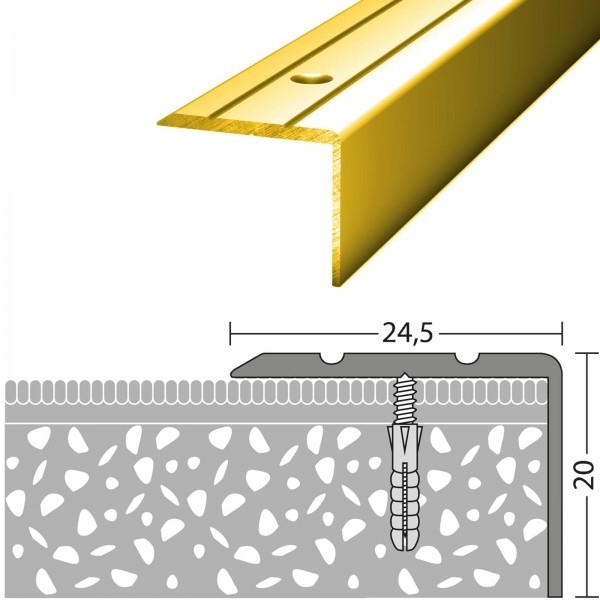 Winkelprofil 24,5x20 mm Gold 270 cm