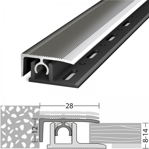 Abschlussprofil 8-14 mm Profi-Tec Master Edelstahl Poliert 270 cm - 3082009270