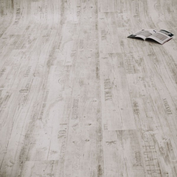 PVC Bodenbelag Rustikal Hell mit Aufdruck - Rolle