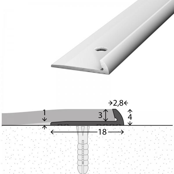 Abschlussprofil 3 mm Silber 250 cm - 1571311250