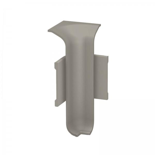 Aluminium Clip Sockelleiste Innenecke Edelstahl Matt Prinz