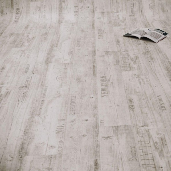 PVC Bodenbelag Rustikal Hell mit Aufdruck