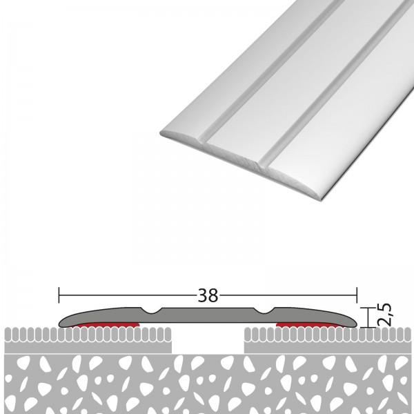 Übergangsprofil 38 mm Selbstklebend Silber 100 cm - 1321411100
