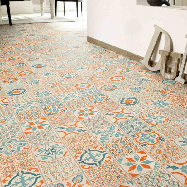 Tarkett Starfloor Click 30 Retro Fliese Orange Blue Klick Vinylboden - 1,68 m²