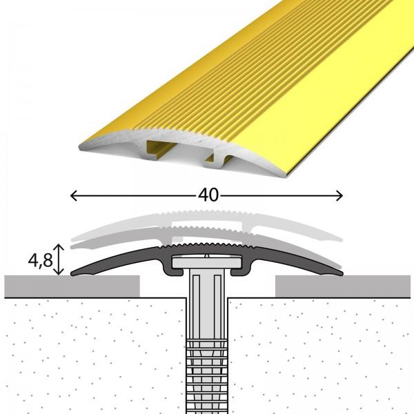 Übergangsprofil 0-17,5 mm D.O.S 40 mm Gold 100 cm - 1031010100