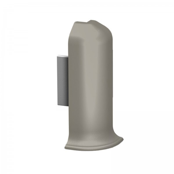 Aluminium Clip Sockelleiste Außenecke Edelstahl Matt Prinz