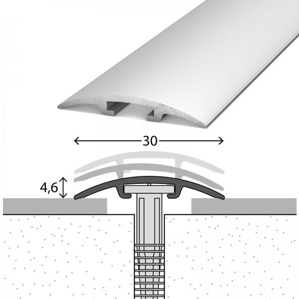 Übergangsprofil 0-17,5 mm D.O.S 30 mm Silber 100 cm - 1001011100
