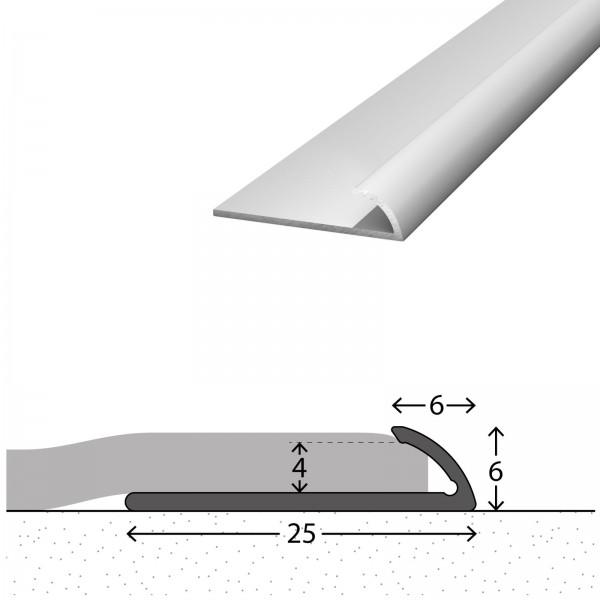 Abschlussprofil 4 mm Silber 270 cm