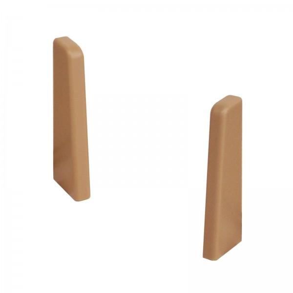 Kronotex Endkappen Paar Hellbraun Uni für Ktex1 (58 mm) Randleiste