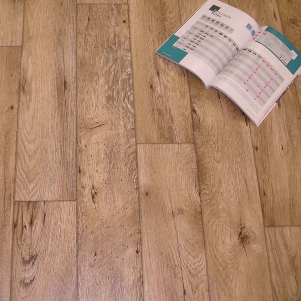 PVC Bodenbelag Holz Rustikal Natur - Rolle
