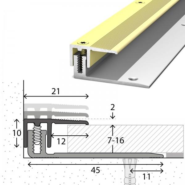 Abschlussprofil 7-16 mm LPS 220 Sahara 270 cm - 2322313270
