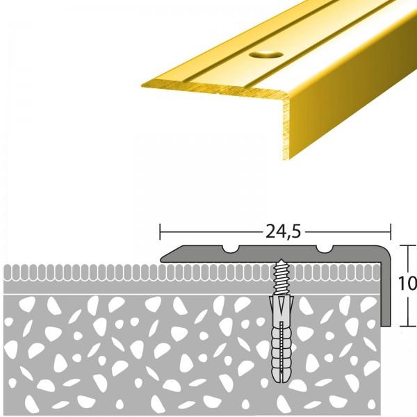Winkelprofil 24,5x10 mm Gold 100 cm