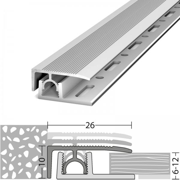 Abschlussprofil 6-12 mm Profi-Tec Junior Silber 270 cm - 3202011270