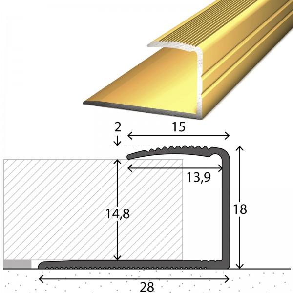 Einfassprofil 14-15 mm Gold 270 cm - 2542010270