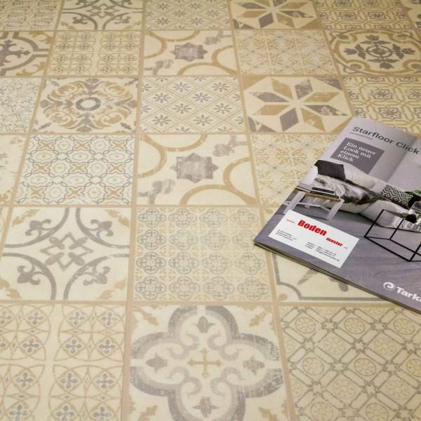 Tarkett Starfloor Click 30 Retro Fliese Grey Beige Vinylboden - M U S T E R