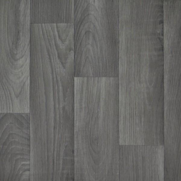 PVC Bodenbelag Holz Eiche Grau - Rolle