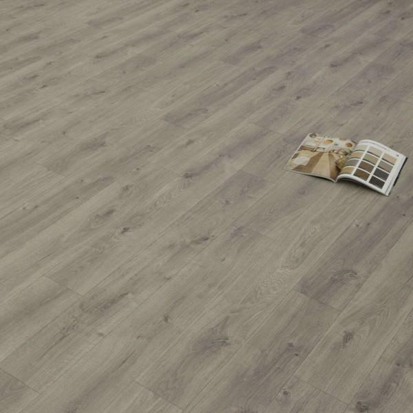 PVC Bodenbelag Holz Rustikal Grau mit Textilrücken