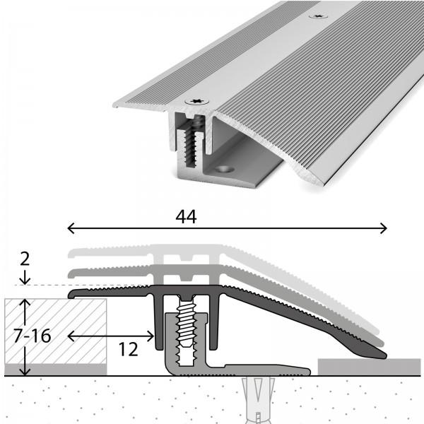 Anpassungsprofil 7-16 mm LPS 220 Silber 100 cm - 2211311100