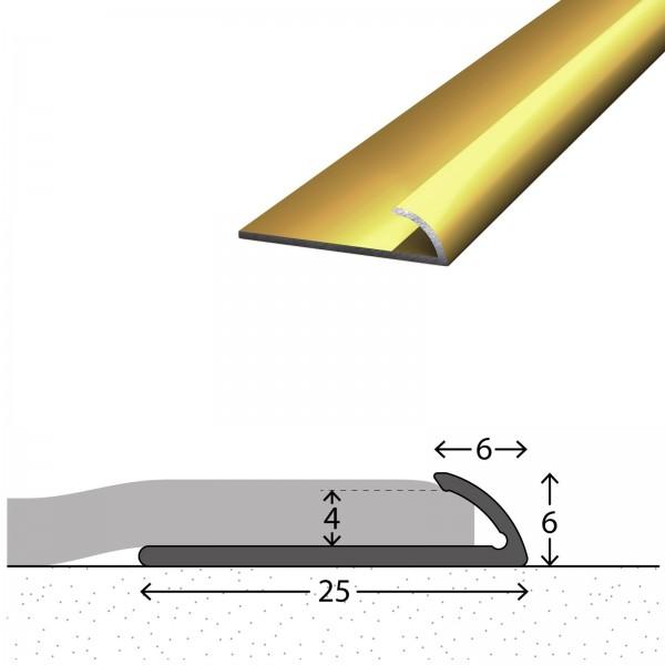Abschlussprofil 4 mm Gold 90 cm