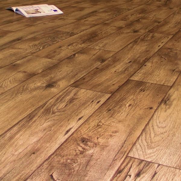PVC Bodenbelag Holz Rustikal Dunkel